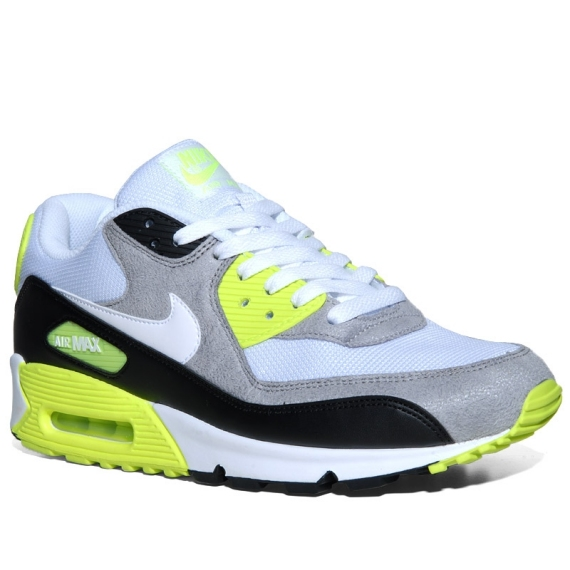 December 2, 2011 Hot runners! Nike Air Max 90 White/Black/Grey/Neon
